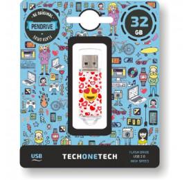Pendrive TechOneTech Emoji Heart Eyes 32GB