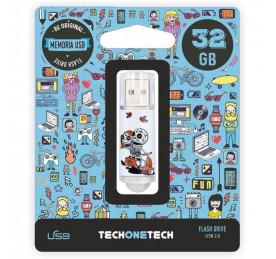 Pendrive TechOneTech Calavera Moto 32GB