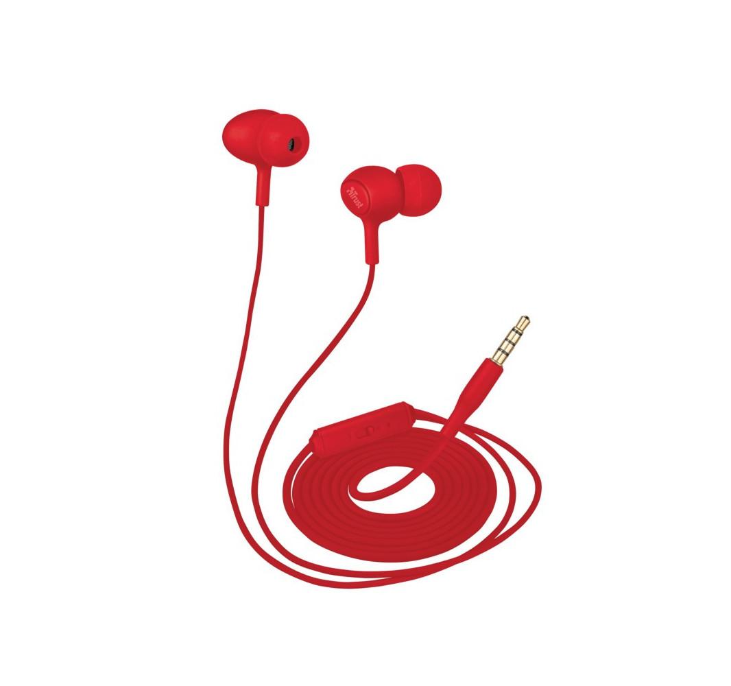 Auriculares Intrauditivos Trust Urban Rojo