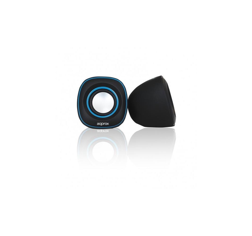Altavoces Mini 6W USB Approx! Azul