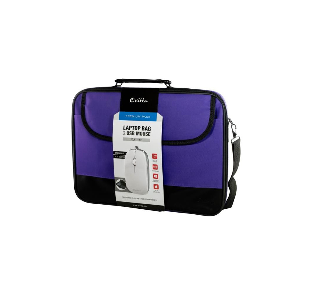 "Maletín e-vitta Premium Pack lila 15,4"" - 16"""